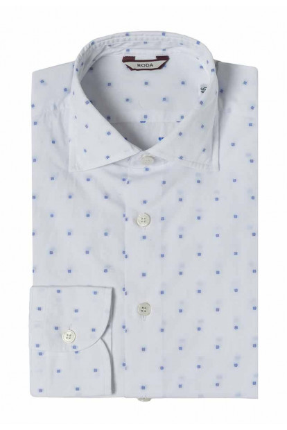 Roda camicia jacuard quadratini