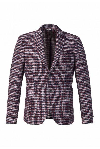 Roda giacca disegno quadratini rosso