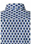 Roda camicia disegno esagoni blu